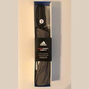 NIP Grey Adidas Compact Sports Umbrella Automatic